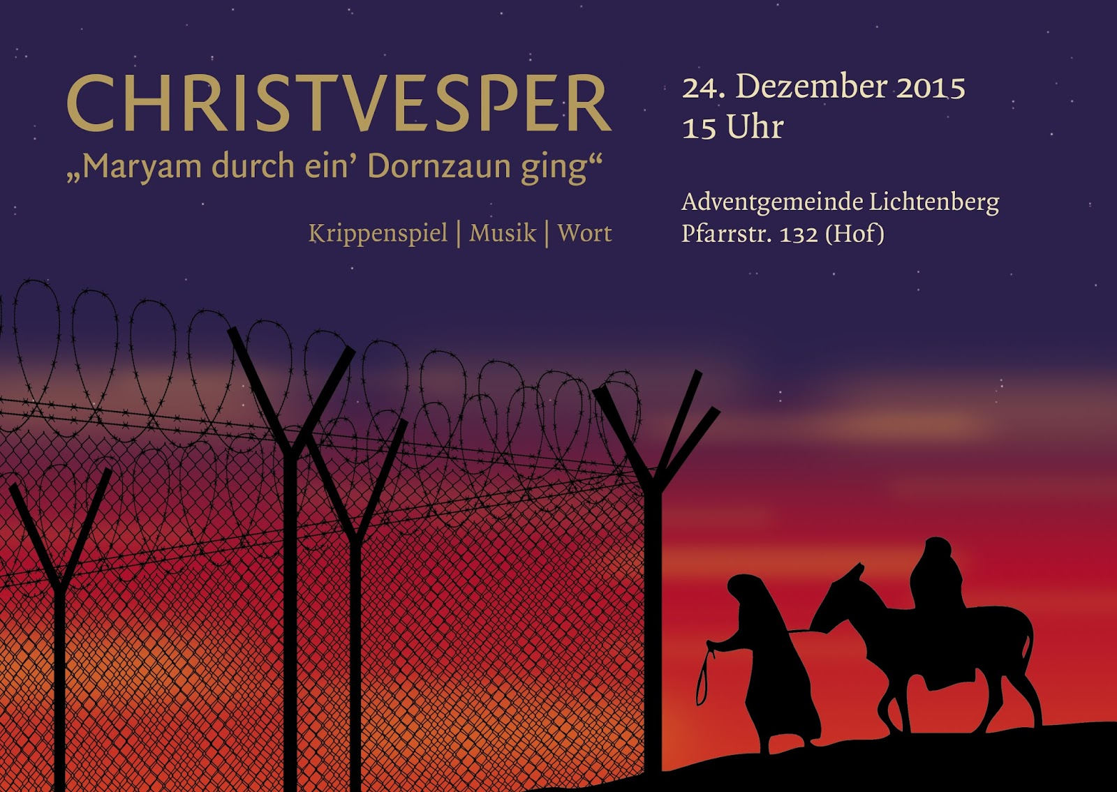Christvesper 2015 in Berlin Lichtenberg